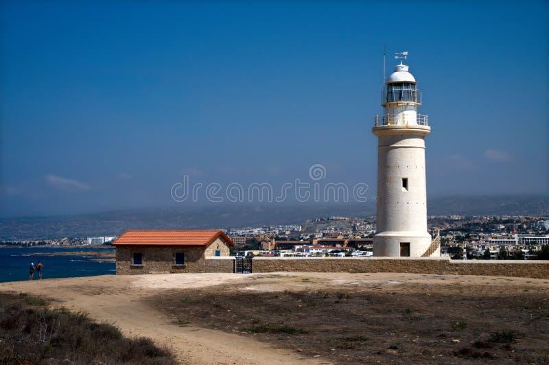 De Vuurtoren van Paphos, Cyprus royalty-vrije stock fotografie