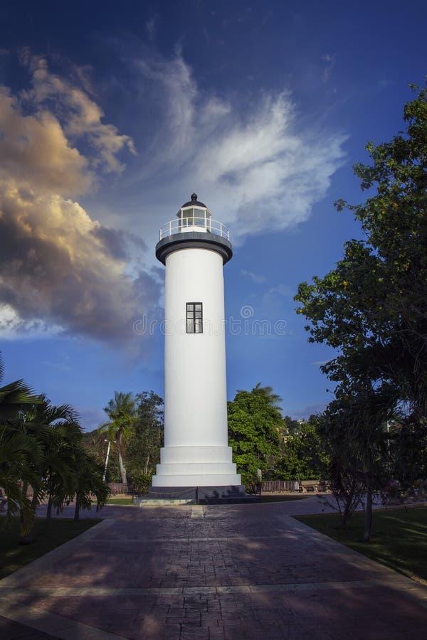 De Vuurtoren van Puerto Rico stock fotografie
