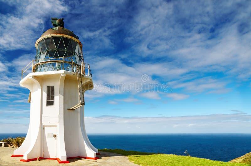 De Vuurtoren van Reinga van de kaap, Nieuw Zeeland royalty-vrije stock foto