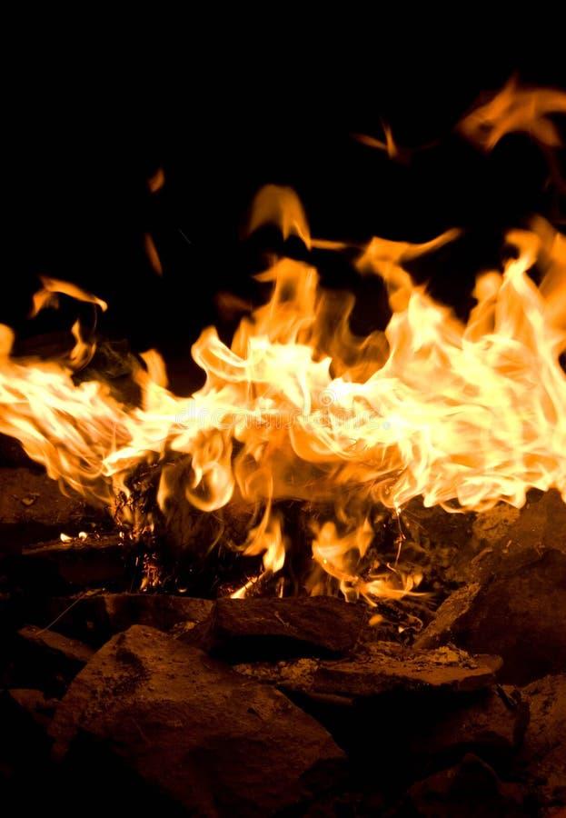 De vuurzee van de ziel royalty-vrije stock afbeeldingen