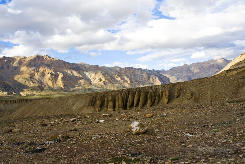 De waaier van Himalayagebergte stock afbeeldingen