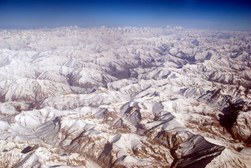 De Waaier van Zanskar, Ladakh, India stock foto's