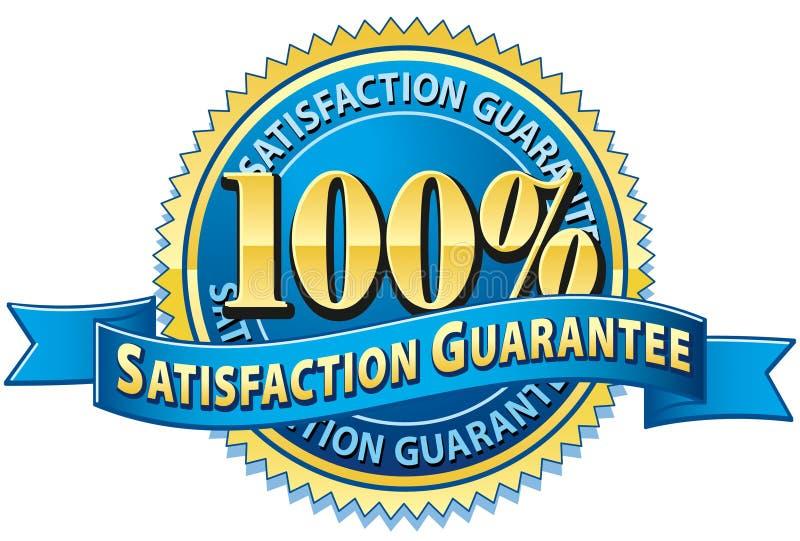 De Waarborg van de Tevredenheid van 100% vector illustratie