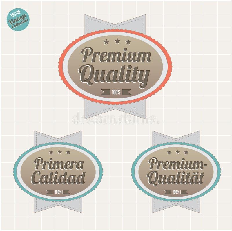 De waarborgkentekens van de kwaliteit en van de tevredenheid royalty-vrije illustratie