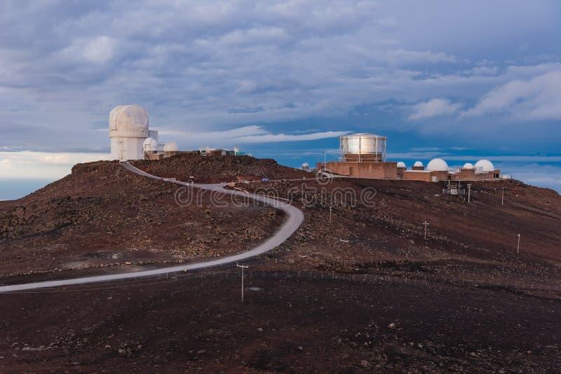 De Waarnemingscentra van de Haleakalatop stock afbeelding