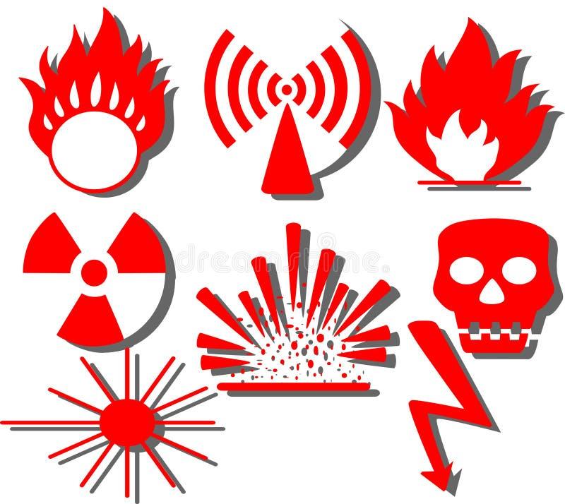 De waarschuwing van het gevaar vector illustratie