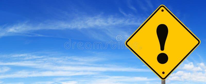 De Waarschuwing van verkeersteken stock foto's