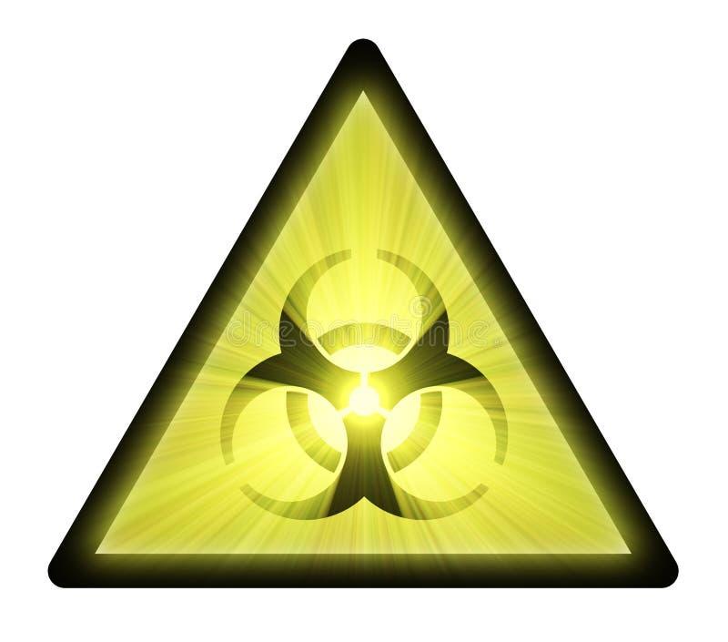 De waarschuwingssymbool van Biohazard vector illustratie