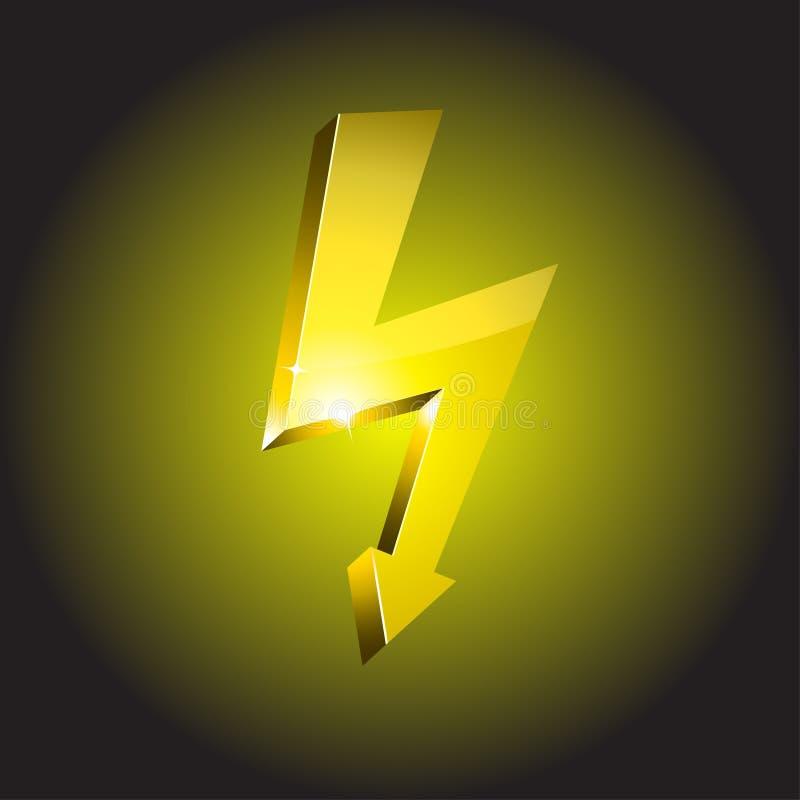 De waarschuwingssymbool van de elektriciteit. stock illustratie