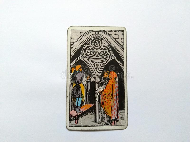 De Waarzegging Geheime Magisch van tarotkaarten royalty-vrije stock afbeeldingen
