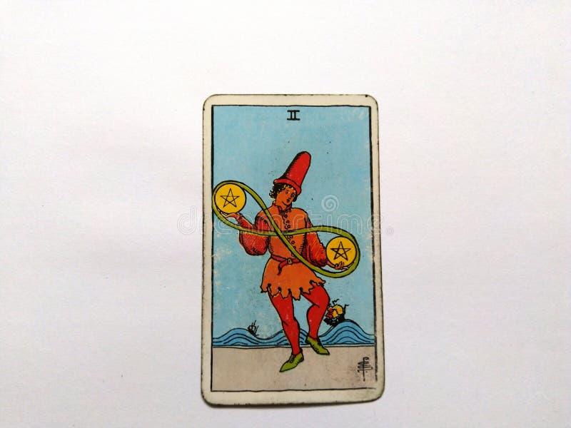 De Waarzegging Geheime Magisch van tarotkaarten stock afbeeldingen