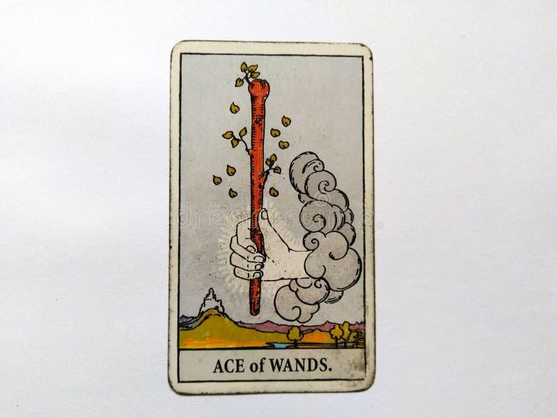 De Waarzegging Geheime Magisch van tarotkaarten stock afbeelding