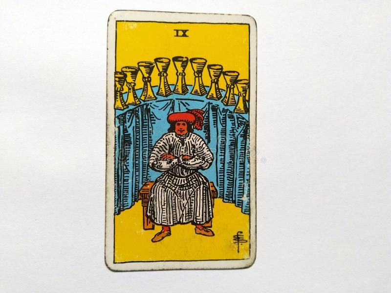 De Waarzegging Geheime Magisch van tarotkaarten royalty-vrije stock foto's