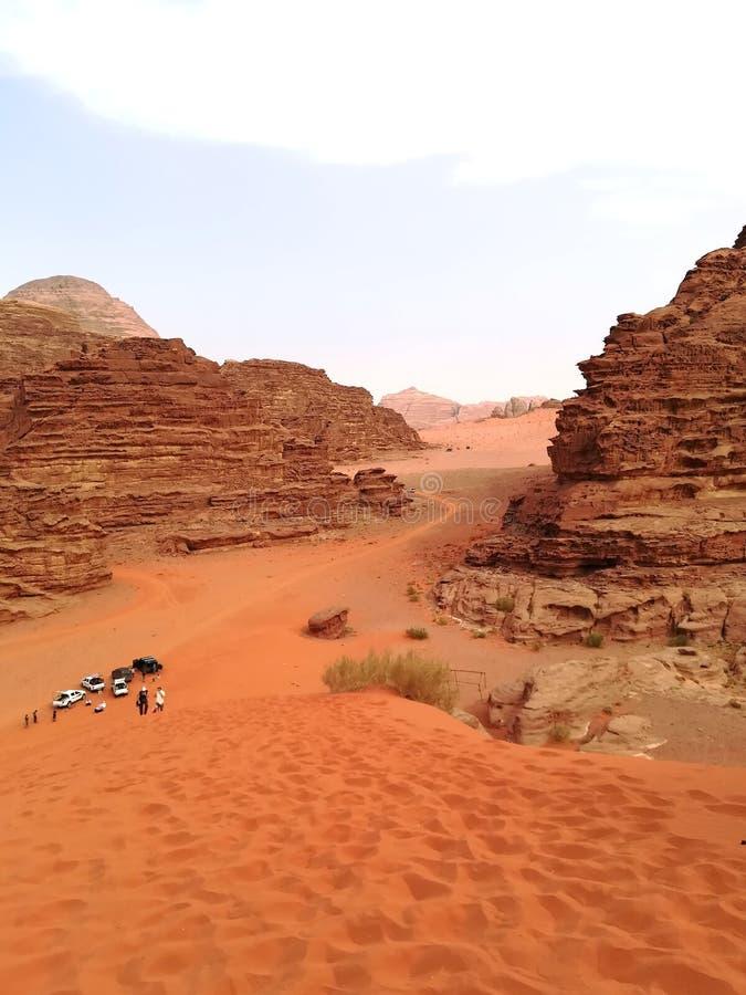De wadirum van de canionwoestijn, Jordanië stock foto