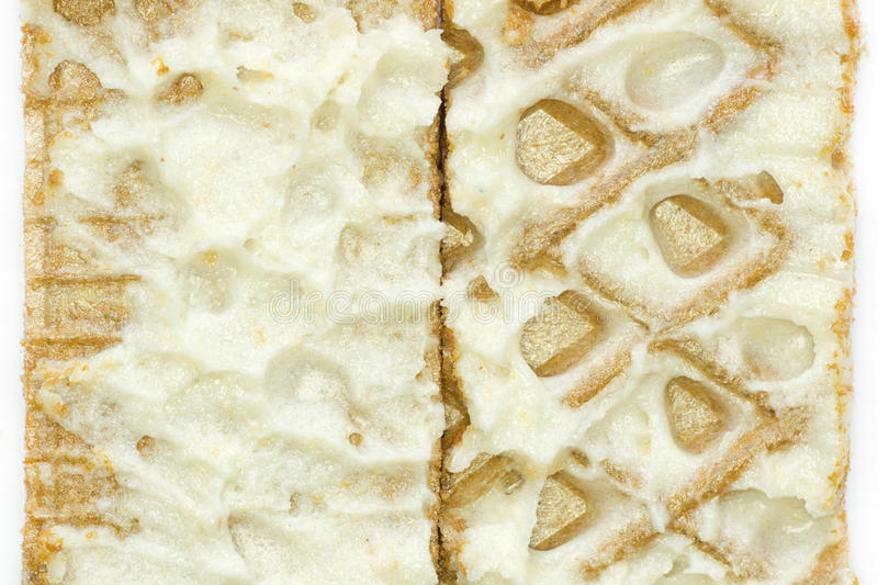 De Wafels Van De Close-up Met Room Stock Afbeeldingen