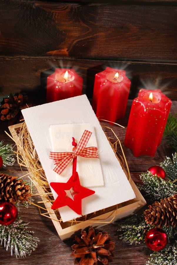 De wafeltjes van de Kerstmisvooravond stock foto's