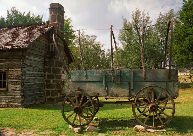 De wagen van de pionier stock afbeeldingen