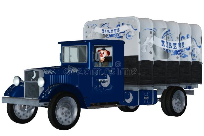 De wagen van het circus vector illustratie