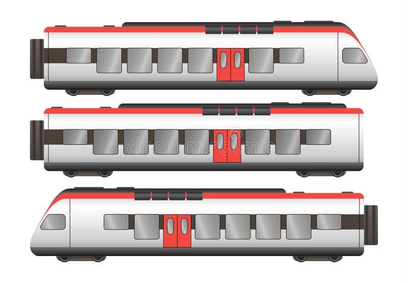 De wagens van de passagierstrein stock illustratie
