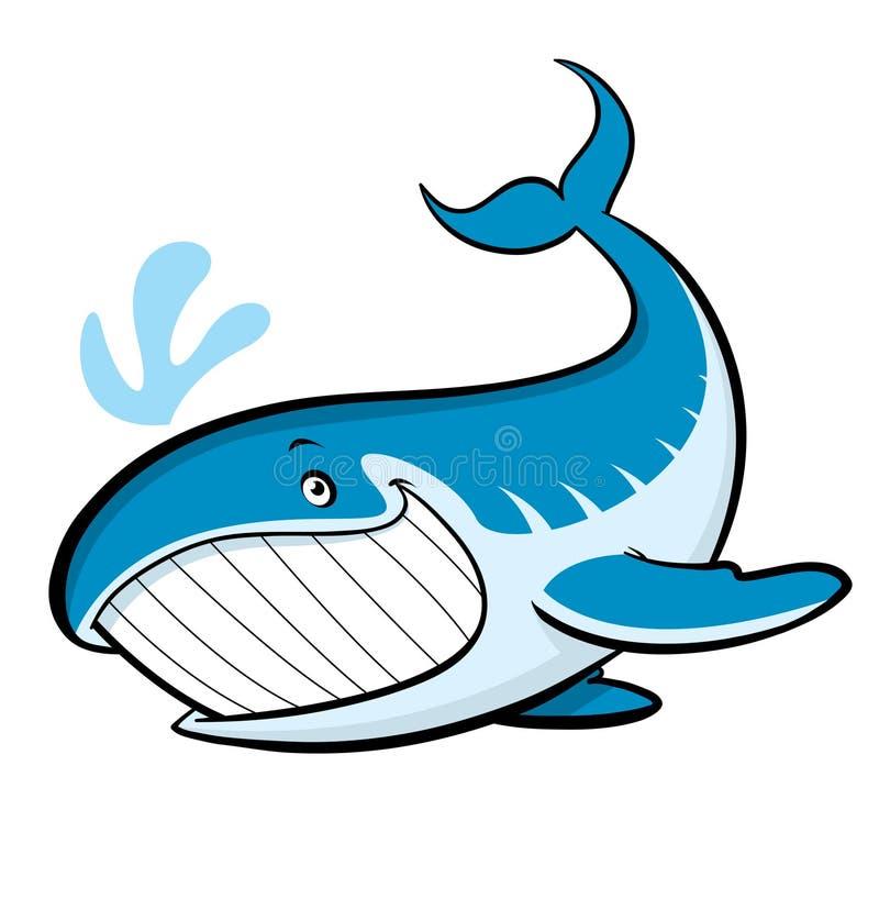 De walvis van het beeldverhaal vector illustratie