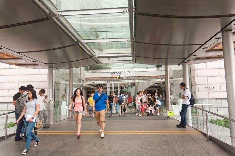De wandelgalerij van Hongkong ifc royalty-vrije stock fotografie