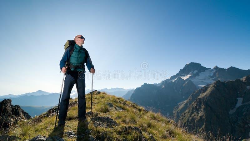 De wandeling van de mens stock foto's