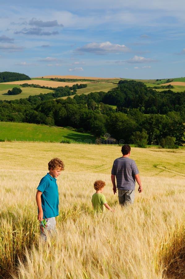 De wandeling van de zomer stock foto