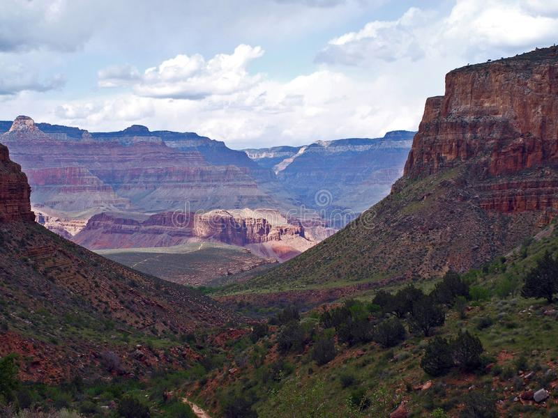 De wandeling van Grand Canyon stock foto