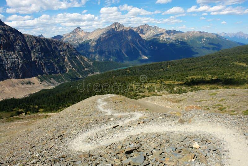 De wandelingssleep van de berg royalty-vrije stock fotografie