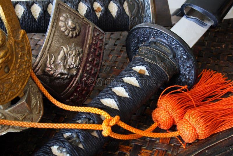 De wapens van samoeraien stock afbeeldingen