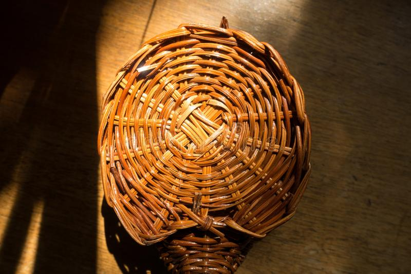 De warme bruine textuur van het staaf cirkelweefsel royalty-vrije stock foto