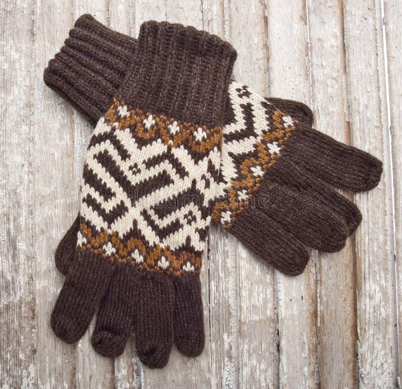 De warme Handschoenen van de Winter stock afbeelding