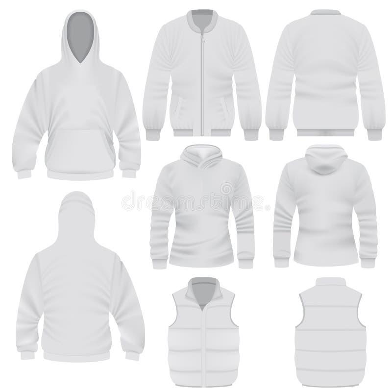 De warme reeks van het klerenmodel, realistische stijl vector illustratie