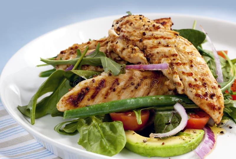 De warme Salade van de Kip royalty-vrije stock foto's