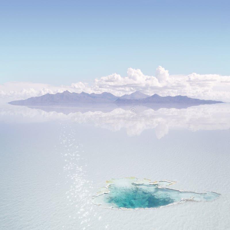 Download De Warmwaterbron Van Het Ijs Stock Illustratie - Illustratie bestaande uit sneeuw, landschap: 10778607