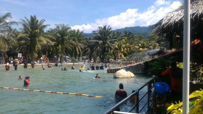 De Warmwaterbron van Sungaiklah, Maleisië stock afbeeldingen