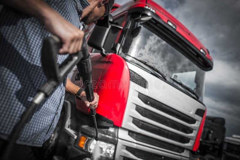 De Was van de Detailervrachtwagen royalty-vrije stock foto