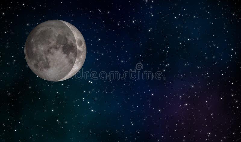 De in de was zettende Crescent Moon-achtergrond van het illustratieconceptontwerp vector illustratie