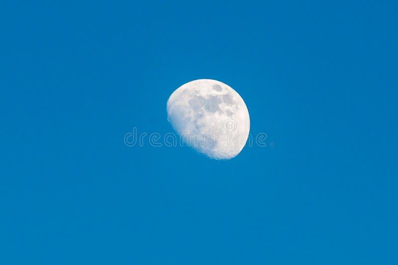 In de was zettende Gibbous Maan royalty-vrije stock foto's