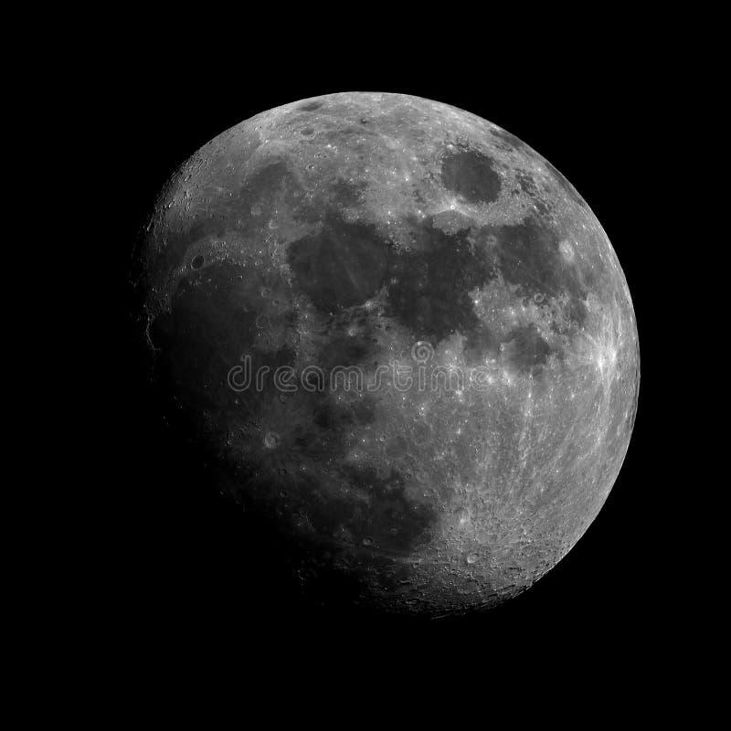 In de was zettende Gibbous Maan royalty-vrije stock afbeeldingen