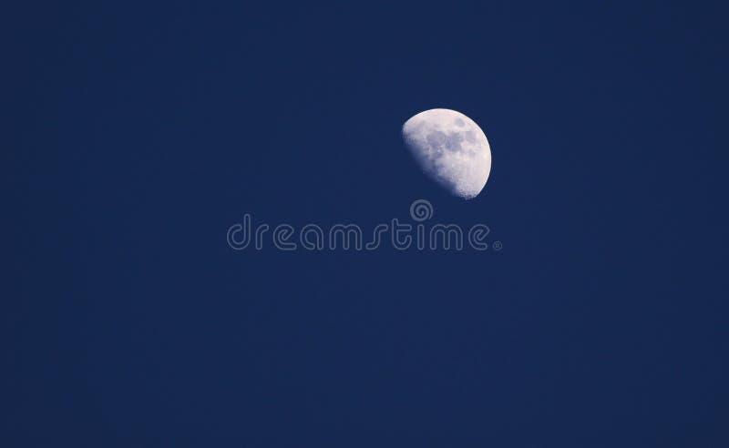 In de was zettende Gibbous Maan royalty-vrije stock foto