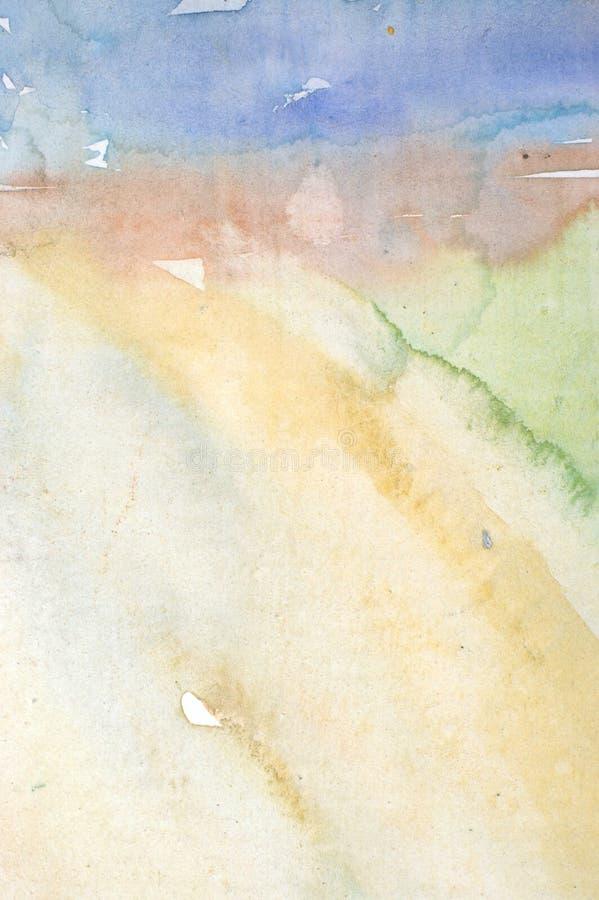 De wasachtergrond van de waterverf stock afbeelding