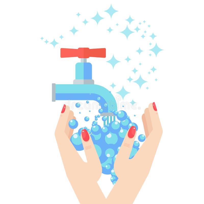 De washanden van de vrouw stock illustratie