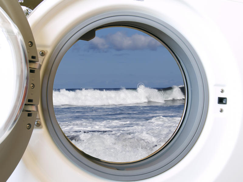 De wasmachine van Eco stock afbeeldingen