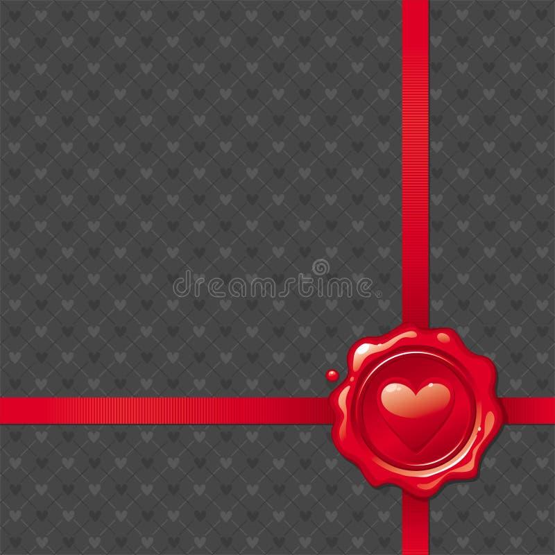 De wasverbinding van de valentijnskaart royalty-vrije illustratie