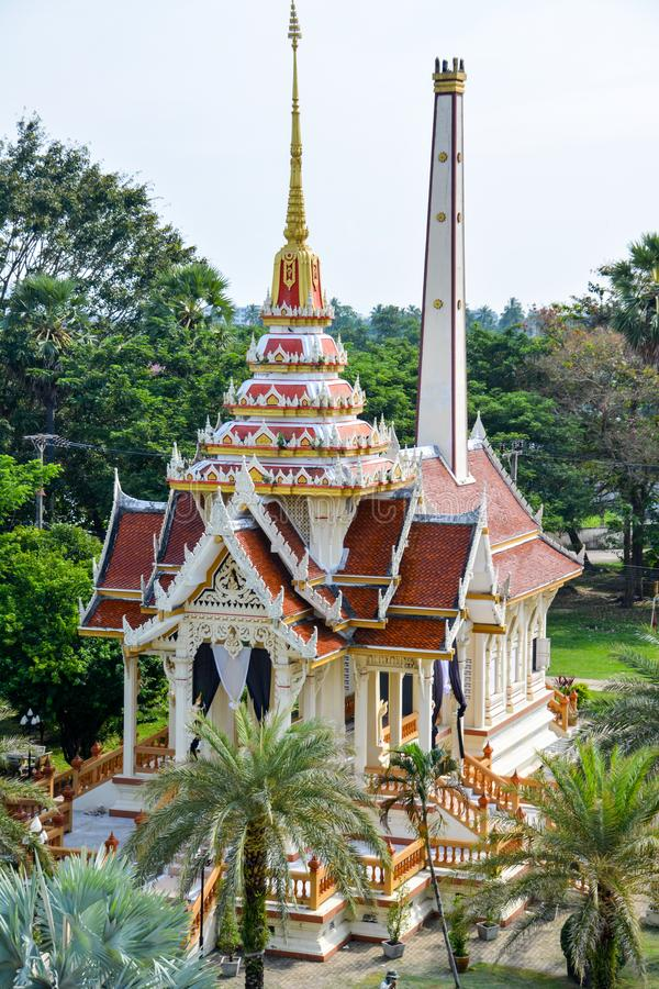 De Wat Chalong Buddhist-tempel in Chalong, Phuket, Thailand royalty-vrije stock foto