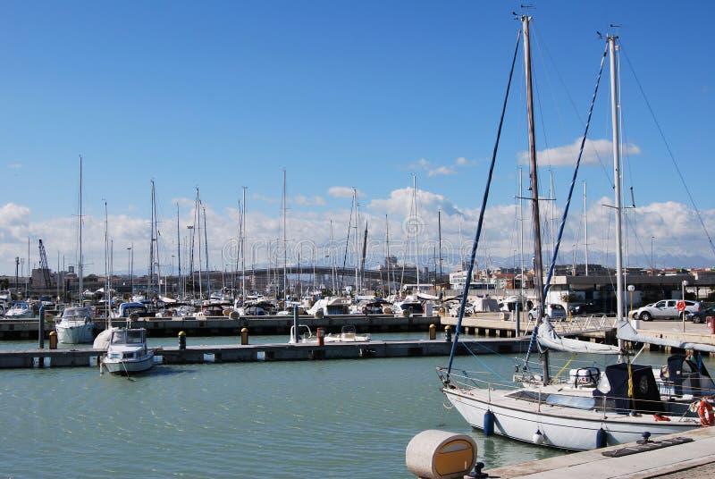 Pescara Strand de waterkant en het strand pescara stock afbeelding afbeelding