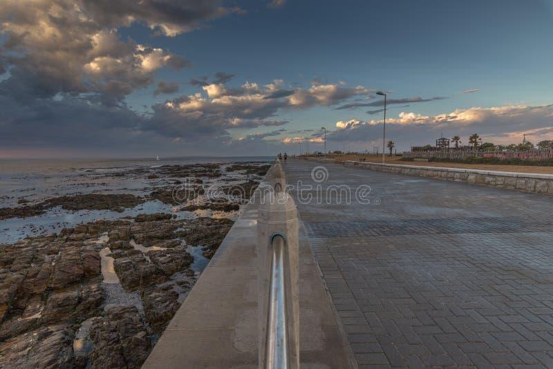 De waterkant in Mouille-Punt, Cape Town, Zuid-Afrika royalty-vrije stock foto