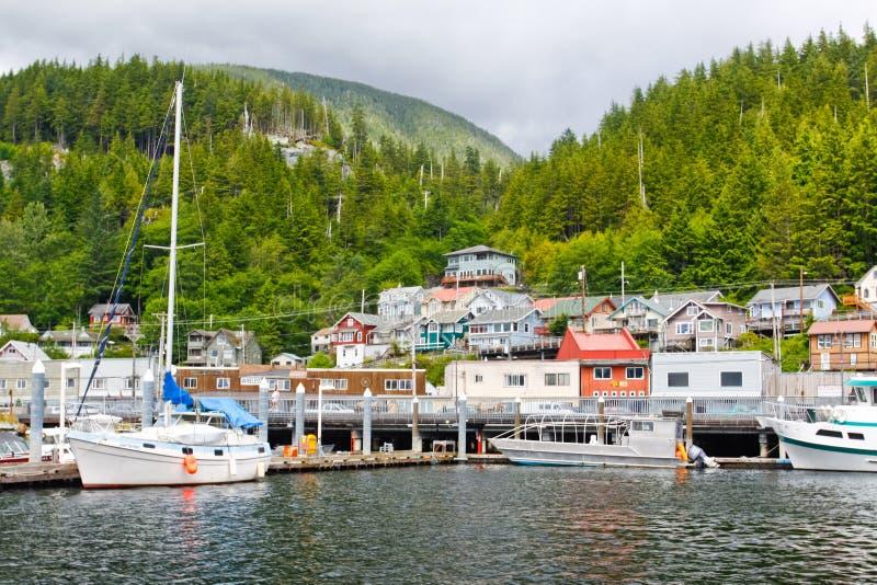 De Waterkant van Alaska Ketchikan stock fotografie