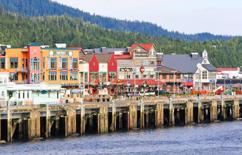 De Waterkant van Alaska Ketchikan royalty-vrije stock fotografie